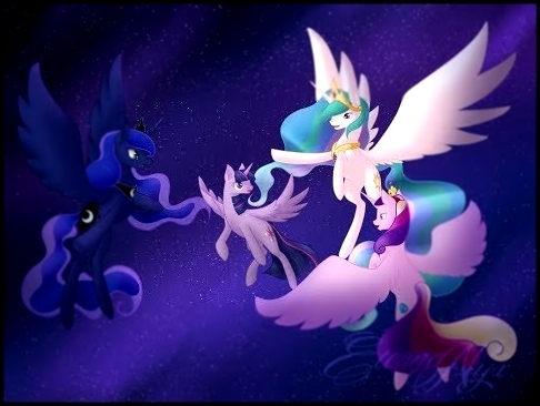 Видеоклип MLP(MIX):Princess Celestia,Luna,Cadence and Twilight - Lightning